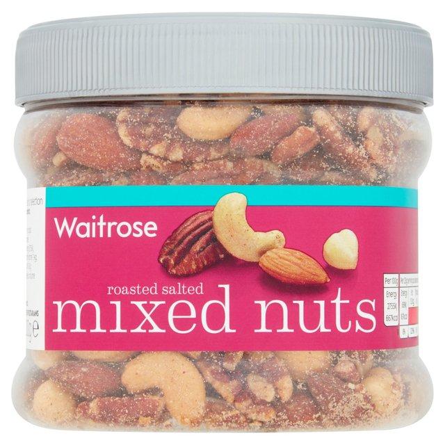 Waitrose Roasted Salted Mixed Nuts   Ocado