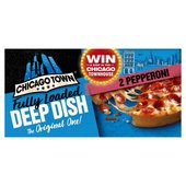 Chicago Town 2 Deep Dish Pepperoni Pizza Frozen