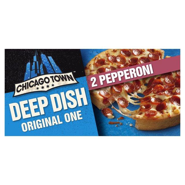 Chicago Town 2 Deep Dish Pepperoni Pizzas Ocado