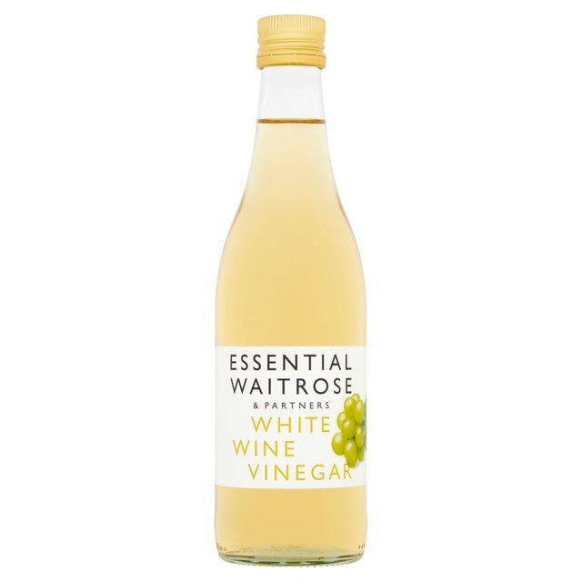 Essential Waitrose White Wine Vinegar 500ml From Ocado