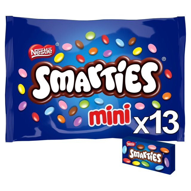Nestle Mini Smarties 18 x 14.4g from Ocado Smarties Mini