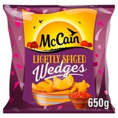 McCain Lightly Spiced Potato Wedges Frozen