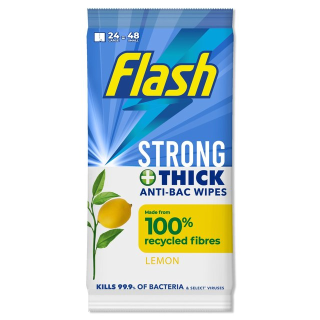 Flash Strong Weave Wipes Antibacterial