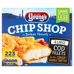 Young's Chip Shop 4 Large Battered Cod Fillets Frozen
