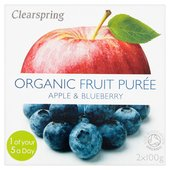 Clearspring Organic Apple & Blueberry Puree