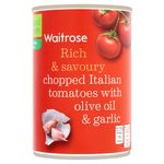 Waitrose Italian Tomatoes with Olive Oil & Garlic