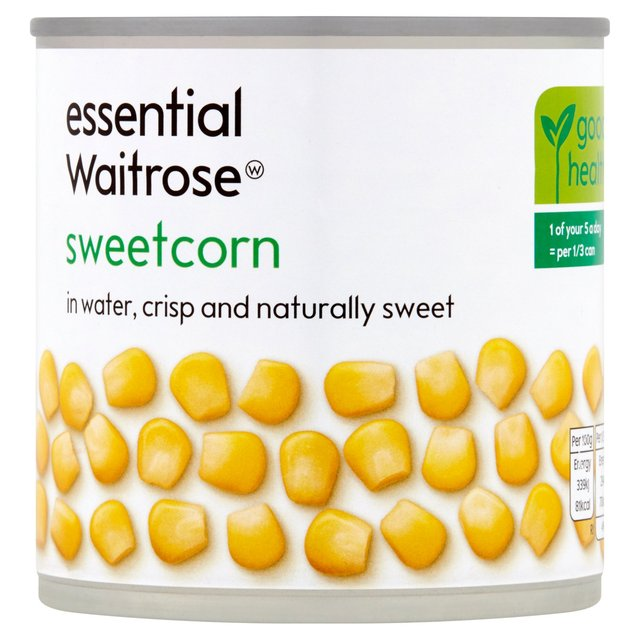 Essential Waitrose Naturally Sweet Sweetcorn