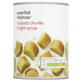 Essential Waitrose Rhubarb in Light Syrup