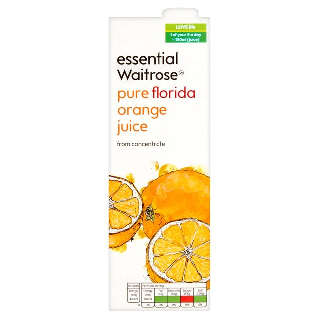 Essential Waitrose Florida Orange Juice Concentrated