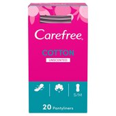 Carefree Cotton Breathable Pantyliners Single Wrapped