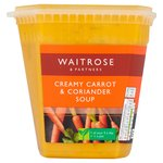 Waitrose Love Life Carrot & Coriander Fresh Soup