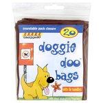 Snappies Tidy-Up Doggie Doo Bags with Tie Handles