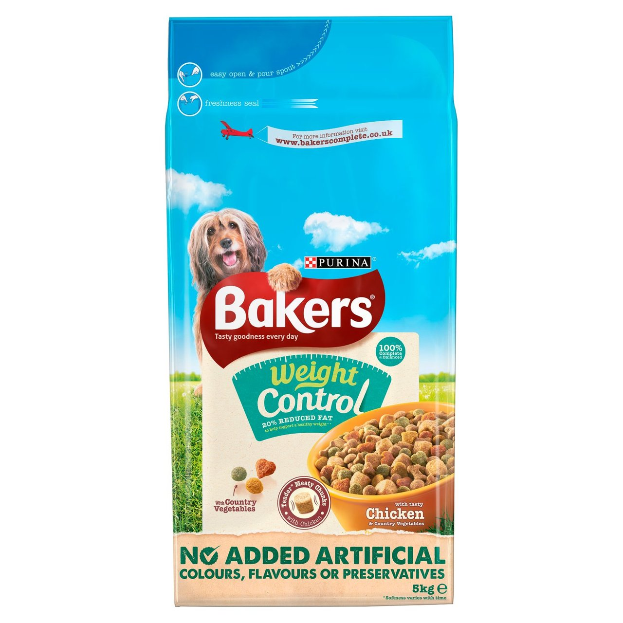 An image of Bakers Weight Control Chicken & Veg Dry Food