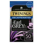 Twinings Decaffeinated Earl Grey Tea, 50 Tea Bags