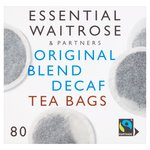 Essential Waitrose Decaff Tea Bags Original Blend