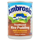Ambrosia Traditional Rice Pudding Sultanas & Nutmeg
