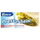 Baco Press 'N' Seal Sandwich Bags