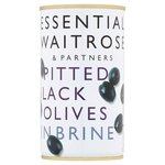 Waitrose Spanish Pitted Black Olives