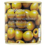 Waitrose Green Olives Stuffed with Anchovy