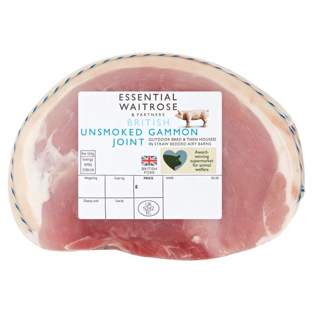 Essential Waitrose British Unsmoked Gammon Joint Serves 4