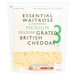 Essential Waitrose Grated Medium Cheddar