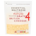 Essential Waitrose Grated Mature Cheddar