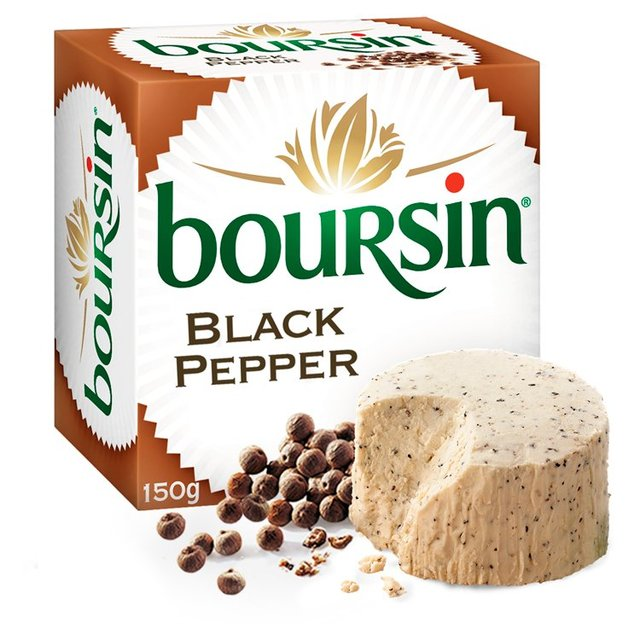 boursin cheese with black pepper 150g from ocado