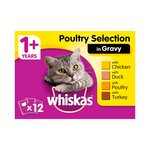 Whiskas 1+ Cat Pouches Poultry Selection in Gravy
