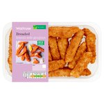 Waitrose Lightly Seasoned Breaded Lemon Sole Goujons