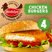 Birds Eye 4 Chicken Burgers Frozen