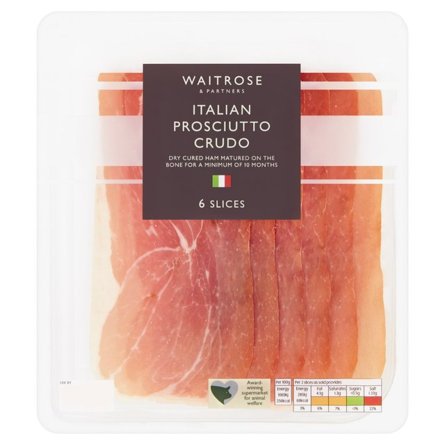 Waitrose Sweet Dry Cured Prosciutto Crudo