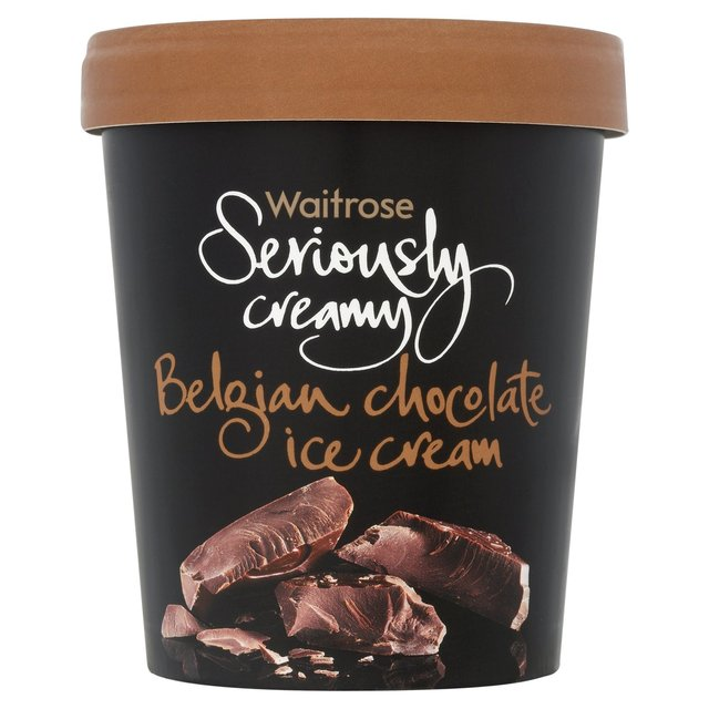Seriously Creamy Belgian Chocolate Ice Cream Waitrose