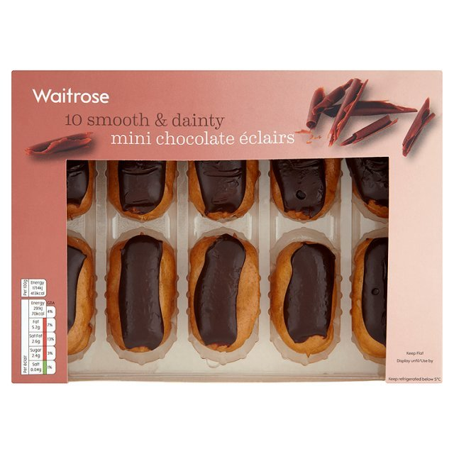 Fresh Patisserie Mini Chocolate Eclairs Waitrose