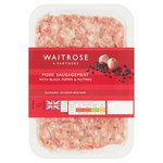 Waitrose Premium Gourmet Pork Sausagemeat with Black Pepper & Nutmeg