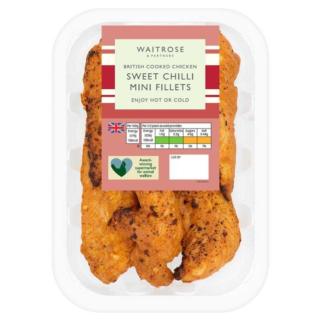 Waitrose British Sweet Chilli Roast Chicken Mini Fillets ...