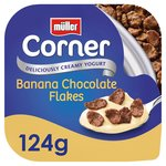 Muller Corner Banana Yoghurt with Chocolate Flakes