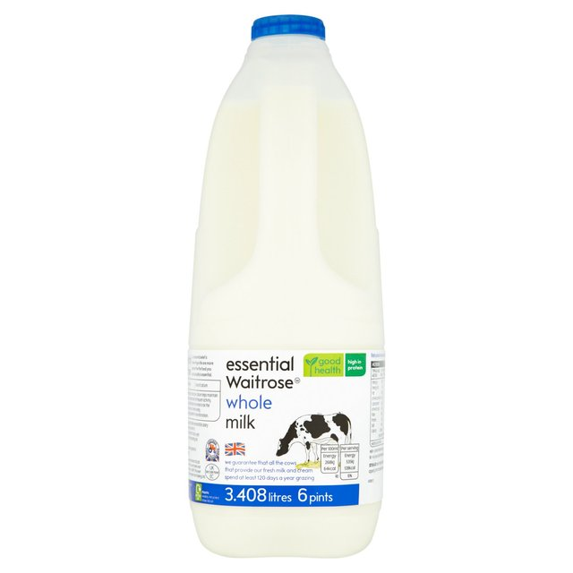 Full Cream Milk 6 Pints essential Waitrose