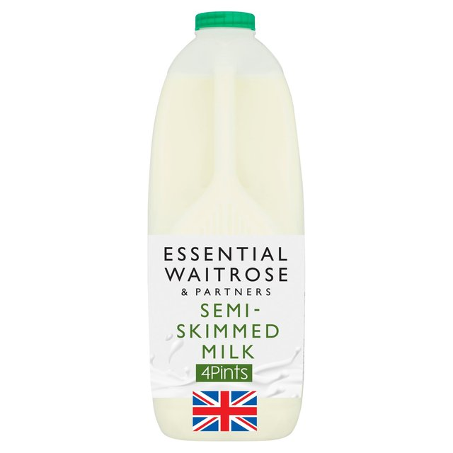 Semi Skimmed Milk 4 Pint essential Waitrose