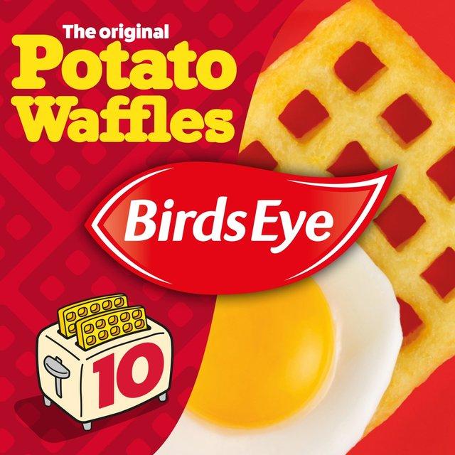 Birds Eye 10 Potato Waffles Frozen Ocado