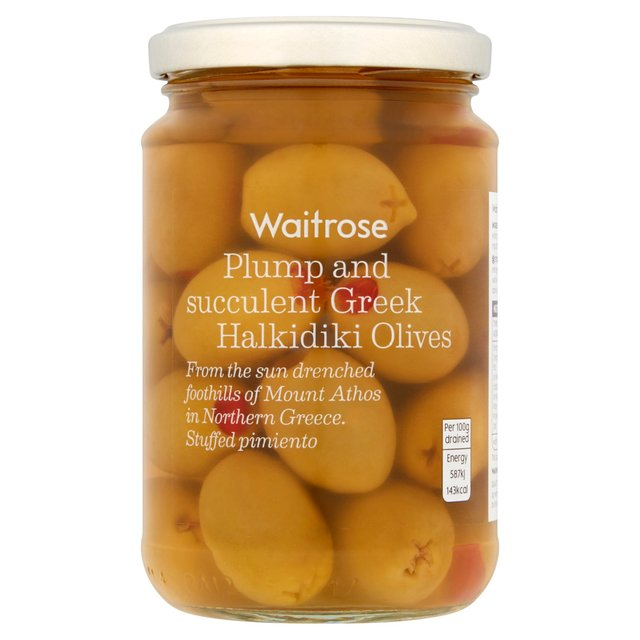 Waitrose Greek Olives Stuffed with Pimento
