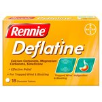 Rennie Deflatine Trapped Wind Relief Tablets