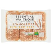 Wholemeal Baps essential Waitrose