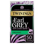 Twinings Organic Earl Grey Tea, 50 Tea Bags