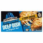 Chicago Town 2 Deep Dish 4 Cheese Pizzas