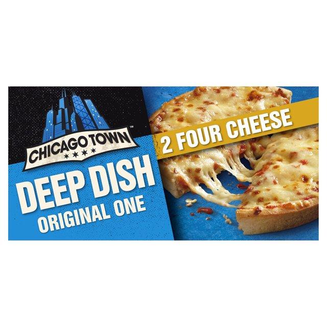 Chicago Town 2 Deep Dish 4 Cheese Pizzas Ocado