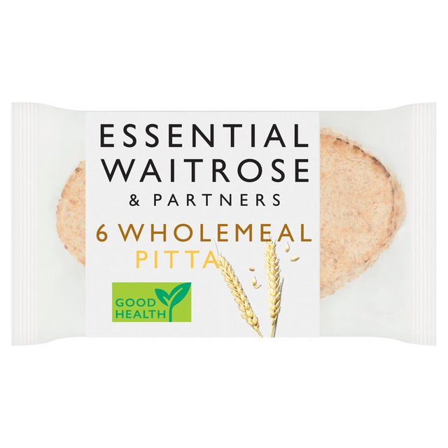Essential Waitrose Wholemeal Pitta Bread