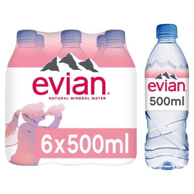 6333178af7 Evian Still Mineral Water 6 x 500ml from Ocado
