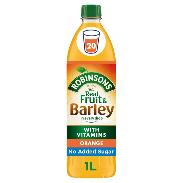 Robinsons Orange Fruit & Barley No Added Sugar