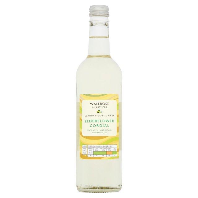 Waitrose Elderflower Cordial 500ml from Ocado