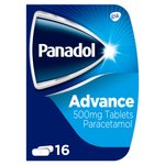 Panadol Advanced 500mg Paracetamol Pain Relief Tablets